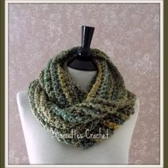 NEW Handmade Crochet Infinity Scarf Green NEW Crochet Infinity Scarf Meadow Green Gold Cowl Neck Warmer Wrap Handmade Handmade Crochet Infinity Scarf in Meadow Green and Gold  Size is approximately 50 inches long by 4 inches wide. MCBAR Machine Washable, Dry on gentle cycle. Do not iron. Made in USA  NICE! Amazing addition to your fashion wardrobe! Handmade Accessories Scarves & Wraps