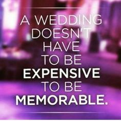 """This one never gets old. 1) Remember only you and your partner can determine what """"expensive"""" means for your household. 2) Don't just budget for your #wedding day. Real life continues after you say """"I do"""". If a month after wedding one of you loses your job, the transmission in the car goes, you have to purchase airline tickets for a funeral, will you have a savings/emergency fund in place? 3) There will always be folks who think you're spending too much or not enough. Use your discernment…"""