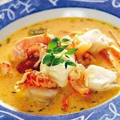 Lite krämig aioli passar utmärkt till fisksoppan.