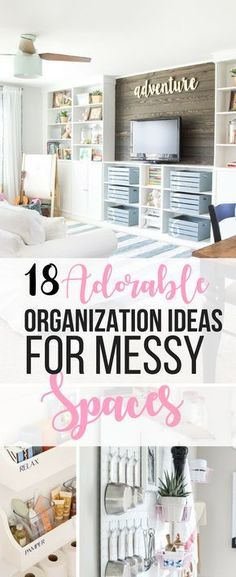 Wow, these organization ideas for clutter in the house are so clever! As a mom with kids, there's clutter everywhere, and these ideas are so pretty! organization ideas clutter 18 Beautiful Ways To Organize The Messiest Spaces Organisation Hacks, Clutter Organization, Home Organization Hacks, Organizing Your Home, Bathroom Organization, Organizing Ideas, Bathroom Storage, Organization Ideas For Bedrooms, Home Design