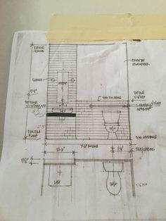 Bathroom plan Bathroom Plans, The Neighbourhood, Floor Plans, Marketing, How To Plan, Kitchen, The Neighborhood, Cooking, Kitchens