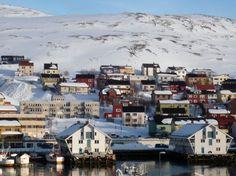 Vista de Honningsvag en el #Nordkapp o Cabo Norte en #Noruega