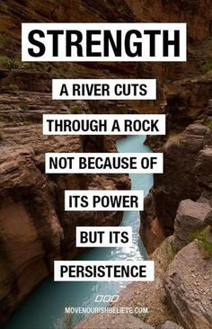 Stay persistent.