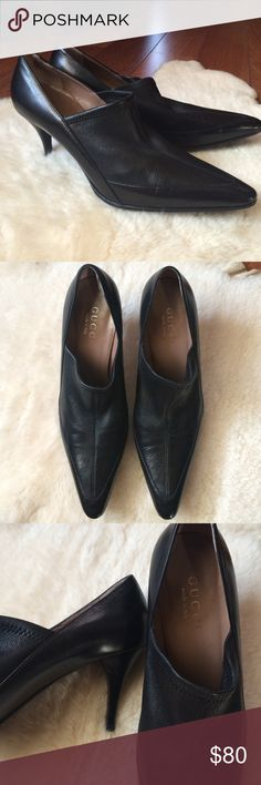 Gucci Leather Heels size 7.5 Authentic, Excellent condition, soft leather, soles have been reinforced to keep them from wearing. Comfortable, size 7.5 Gucci Shoes Heels