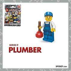NEW PLUMBER LEGO MINIFIGURE SERIES 9 - SEALED IN BAG - READY TO SHIP! #LEGO #SERIES9 #LEGOPLUMBER #EBAY #legoMinifig