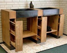 badkamer meubel hout