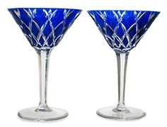 Martini Cobalt Blue Wine Glasses  #tbttcobaltbluewineglasses