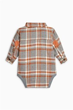 Buy Ginger Fox Check Shirtbody (0mths-2yrs) from the Next UK online shop
