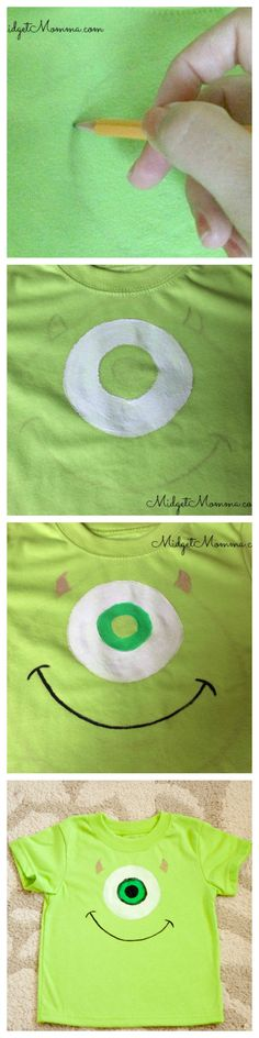 This easy to make DIY Painted Mike Wazowski Shirt is perfect for if you are heading to Disney or you have a Monsters Inc fan who loves Mike Wazowski! This DIY Disney shirt is easy to make and your Mike Wazowski will love it!