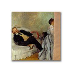 Edgar Degas 'Monsieur and Madame Edouard Manet' Wall Art