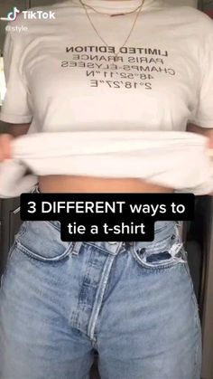 dicas de looks Easy Fashion Tips 3 Different Ways To Ties A T-Shirt Fashion OOTD TikTok ideas Clothing hacks videos dicas Easy Fashion OOTD Ties TikTok Tips Tshirt Ways Diy Fashion Hacks, Fashion Tips, Diy Fashion Videos, Fall Fashion, 2000s Fashion, Jeans Fashion, Hijab Fashion, Boho Fashion, Fashion Trends