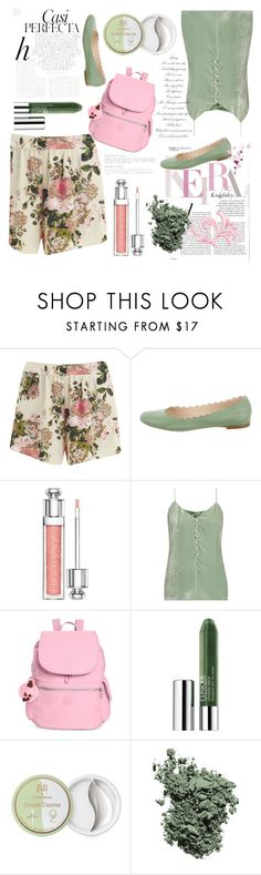 """Untitled #484"" by jasminka-m ❤ liked on Polyvore featuring VILA, Christian Dior, Hillier Bartley, Kipling, Clinique, Pixi, Laura Mercier and Whiteley"
