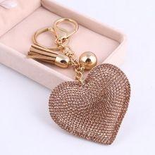 Minhin Cute Owl Pendant Leather Key Chain Car Key Ring Holder Gold Bag  Keychain Gift For Girls 6 Colors Rhinestone Key Chains 26e71a0eb6