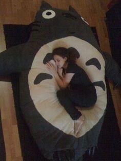 DIY Stuffed Totoro pillow (no pattern)..  I will make this someday!