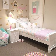 Girls Bedroom Decor, Girl Bedroom Ideas 6 Year Old Do you think he or she is gonna like it? Daughters Room, Kids Room Design, Little Girl Rooms, Room Inspiration, Toddler Bed, Toddler Rooms, Bedroom Ideas, Girls Bedroom Furniture, Kids Furniture