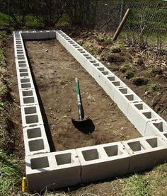 DIY Raised Garden Beds With Cinder Blocks... great blog, tons of good tips and DIY...