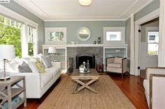 white paint, redone fireplace, floor color  428 62ND St Oakland, CA 94609