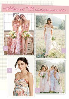 Trending: Floral Bridesmaids
