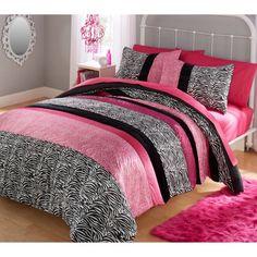 your zone piece zebra bedding comforter set - Walmart.com