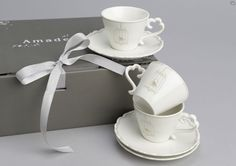 Caja 6 tazas espresso+plato