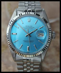 MENS SWISS VINTAGE ROLEX OYSTER DATEJUST W/ SILVER DIAL