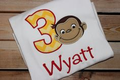 A personal favorite from my Etsy shop https://www.etsy.com/listing/250410902/personalized-curious-george-birthday