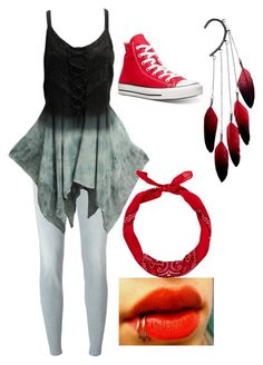 """""""Untitled #323"""" by bleeding-neverland on Polyvore featuring Converse, Jacob Cohёn, New Look and Anni Jürgenson"""