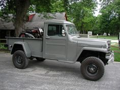 1951 Willys Pickup - Photo submitted by Dick Jeep Pickup Truck, Vintage Pickup Trucks, Old Jeep, Jeep Cj, Chevrolet Trucks, 1957 Chevrolet, Chevrolet Impala, Cool Trucks, 4x4 Trucks