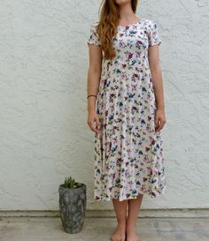90's All That Jazz Rayon Soft Pastel Pink Hibiscus by LexAndLos, $27.00