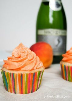 Champagne + Peach Bellini Cupcakes