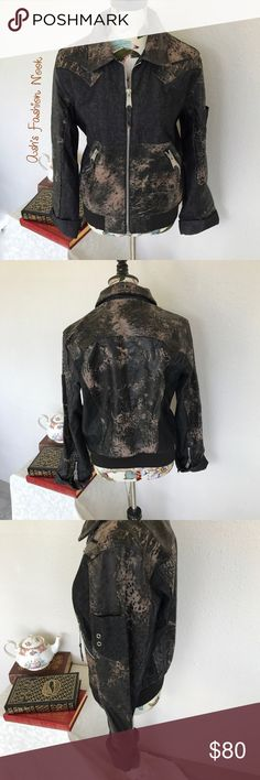 Just in H&D-NWOT Leather and Denim Jacket Brand: H&D Color(s): black and brown Size: Medium Stretch: no Fabric Content: shell 60% cotton 40% leather, lining 100% polyester  Condition: NWOT! Note: no flaws! Great leather and denim jacket!   Measurements: Length: ~24 inches  Shoulders: ~17 inches  Pit to pit: ~22 inches Sleeves: ~25.5 inches uncuffed  Bundle all the items you like, and I will send you a personalized, no obligation, offer! H & D Jackets & Coats Jean Jackets