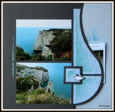 Etretat 2013 - On continue ... - Le scrap européen de Mimouscrap Macao, Page Decoration, Bilbao, Rio, 2013, Photos, Texture, Frame, Layouts
