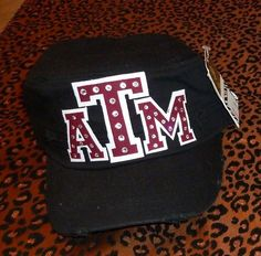 Texas A distressed cadet cap, blinged with genuine Swarovski crystals! $30