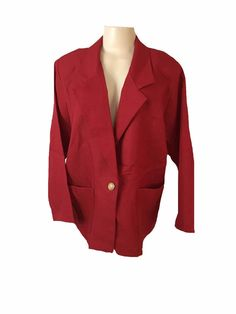 Vintage Blair Boutique Red Long Sleeve Double Breasted Plus Size Blazer Size 20W | eBay