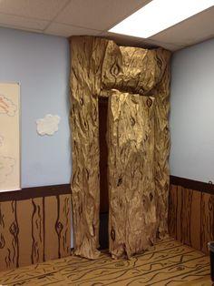 VBS Preschool tree house door