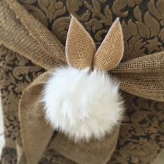 Peter Cottontail Tablescape These chair cover tie backs are adorable