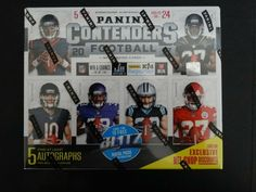 2017 Panini Contenders Football Factory Sealed 5 Auto's Hobby Box Football Cards, Baseball Cards, Seal, Box, Soccer Cards, Snare Drum, Harbor Seal, Boxes, Seals