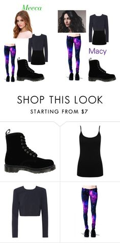 """Meeca and Macy's outfit for the concert"" by mina-taylor ❤ liked on Polyvore featuring Dr. Martens, M&Co, DKNY and Lulu*s"