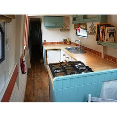 OCTARINE                           £39,950                                                                                  71ft 6ins (21.8m) Trad-stern Narrowboat 1979             with amidships engine room + Lister HRW3 engine             Built by Hancock & Lane       Re-fitted by owner 2010                                                                      HULL:                          Originally built to high standard with... Narrowboat Kitchen, Narrowboat Interiors, Barges For Sale, Narrow Boat, Canal Boat, Floating House, Boat Design, Best Interior, My Dream Home