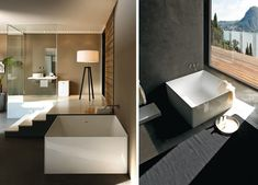 You can't go wrong with the minimalist design of the square and round bathtubs from Colacril's Atmosfere+PLUS Collection. Based in Italy, this company makes beautifully simple and modern bath pieces that are timeless.