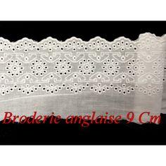broderie anglaise en 9 cm coton