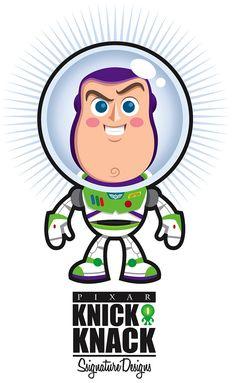 Buzz Lightyear Knick Knack by Jerrod Maruyama Bolo Toy Story, Toy Story Baby, New Toy Story, Toy Story Cakes, Cute Disney, Disney Art, Disney Pixar, Dibujos Toy Story, Walt Disney Princesses