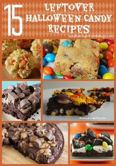 15 Leftover Halloween Candy Recipes - Plus My Favorite for Reese's! - Southern Girl Ramblings
