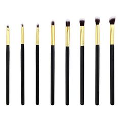 Makeup Eye Brush Set  Eyeshadow Eyeliner Blending Crease Kit  8 Essential Makeup Brushes  Pencil Shader Tapered Definer Make You Look Flawless Golden ** Check out this great product. (Note:Amazon affiliate link)