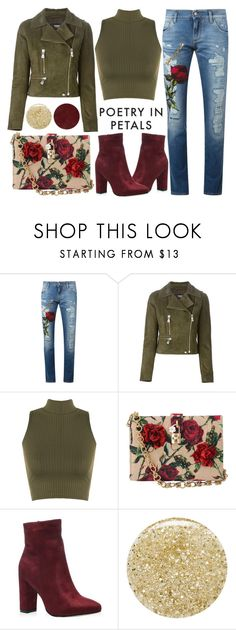 """""""Poetry In Petals"""" by latoyacl ❤ liked on Polyvore featuring Dolce&Gabbana, Versus, WearAll, Lancôme, Burberry, women's clothing, women's fashion, women, female and woman"""