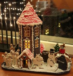 Moomin gingerbread house. Or anything Moomin, really. Seen on Laini Taylor's blog.