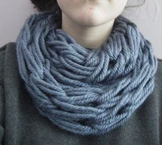 Chunky Arm Knit Infinity Scarf (ANY COLOR)