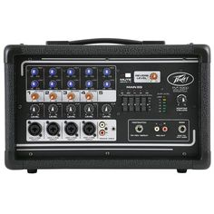 Peavey 5 Channel Powered Mixer with Reverb 200 Watts at MCM Electronics Cable Drum, Dj Gear, Professional Audio, Electronic Books, Gear Shop, Guitar Accessories, Guitar Case, Guitar Strings, Music Lovers