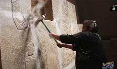 """أنقاض مدينة نمرود توضح وحشية تنظيم """"داعش""""…: سيطرتالقوات العراقيةعلى مدينة نمرود، أحد مواقع القصور الآشورية العظيمة، بعد معركة شرسة مع…"""