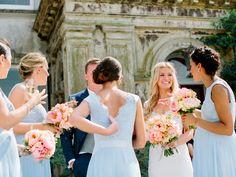 beautiful soft blue bridesmaids dresses | www.onefabday.com
